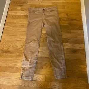 Vince Cropped Ankle Zip Pants